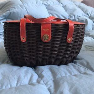 Kate Spade Straw Bucket Handbag